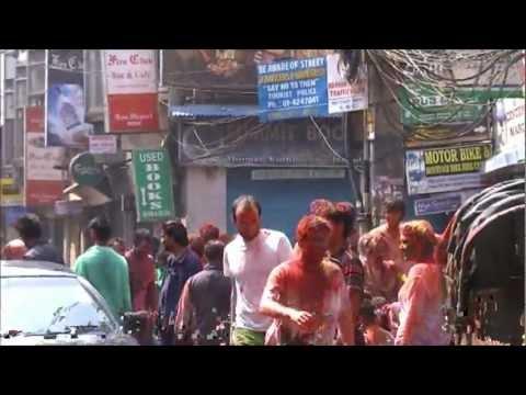 Happy Holi,waterfestival in Kathmandu,Nepal