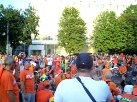 Holland fans and Ukraine sound