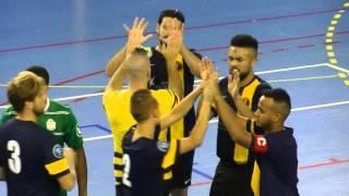 Futsal D1 Toulon Tous Ensemble vs Bruguières Entrée des Equipes Live TV Sports  2015