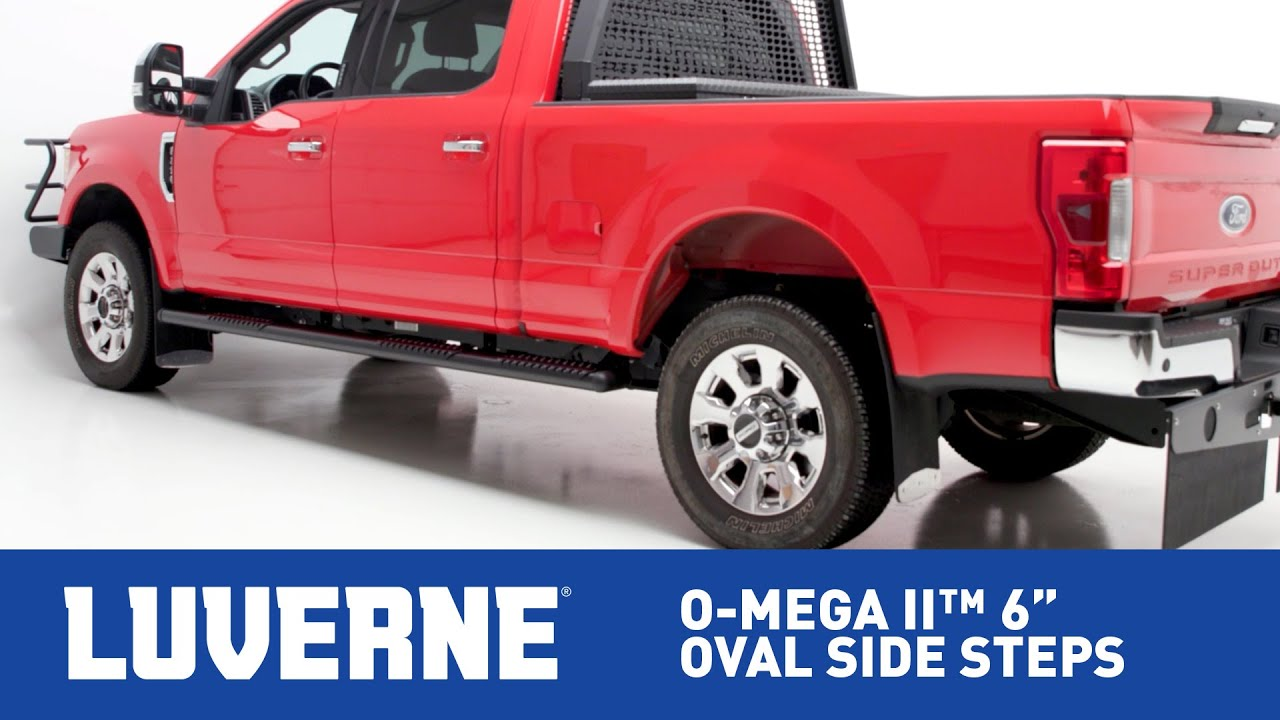 Truck Accessories Running Boards Brush Guards Mud Flaps Luverne 93 Dodge Pickup Wiring Dirg O Mega Ii 6 Oval Side Steps On Ford F 250