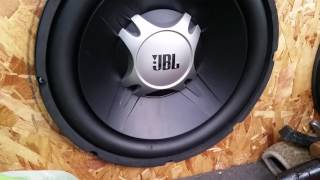 JBL bass speaker test in a car