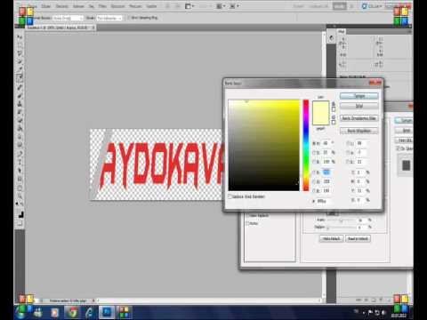 Adobe Photoshop CS5 Işıklı Yazı Yazma Dersi(AydoKavak)