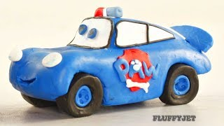 Cars Lightning McQueen & PAW PATROL ▲ Play Doh Stop Motion video ▲ Disney Cars toys play time