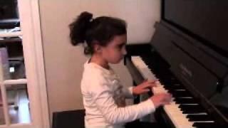 Sevana playing piano