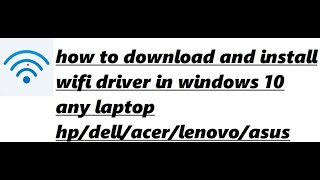 How to install wifi drivers in windows 10 videos / InfiniTube