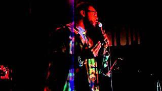 "Chris Turner singing @ drom lounge for ""We Got The Jazz"" Brooklyn Bodega/CMJ"