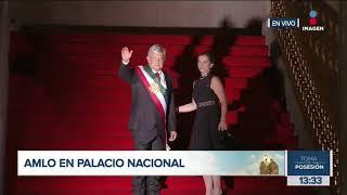 López Obrador llega a Palacio Nacional como presidente de México | Toma de posesión