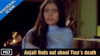 Anjali finds out about Tina's death - Kuch Kuch Hota Hai - Emotional Scene - Kajol, Shahrukh Khan width=
