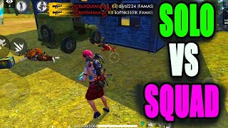 Rank Solo vs Squad tips || Free fire tips and tricks|| Run gaming