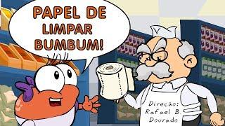 As Aventuras da Begônia - Papel de Limpar Bumbum em desenho animado infantil brasileiro