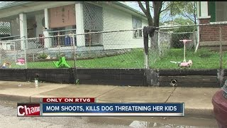 Mother shoots dog to protect her children