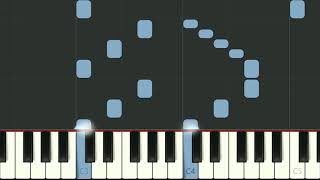 Lavender's Blue a children's folk song arranged for piano - synthesia