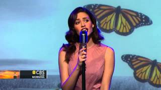 "Emmy Rossum performs on ""CBS This Morning: Saturday"""