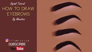 How to draw eyebrow  [ Digital Tutorial ]