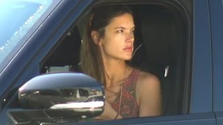 Alessandra Ambrosio Stunning With No Makeup While Shopping In Brentwood