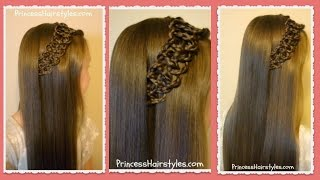 Braided 4 Strand Slide Up Accent Hairstyle