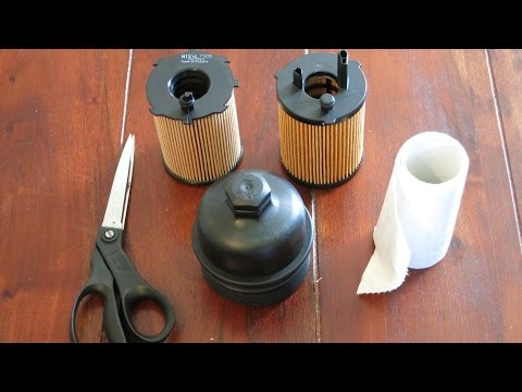 DIY Oil filter removal from cover cap lid top Peugeot 206 1.4 1.6 hdi citro ford volvo mazda toyota