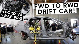 Fredric Aasbo's New Drift Car Revealed + Ford Coyote V8 Swap FR-S - Papadakis Racing Shop Tour
