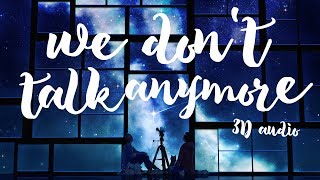 JIMIN & JK - We Don't Talk Anymore Pt. 2 (3D Audio) /Use Headphones/