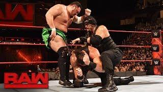 Roman Reigns vs. Braun Strowman vs. Samoa Joe - Triple Threat Match: Raw, July 31, 2017