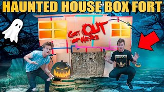 BOX FORT HAUNTED HOUSE!! 📦😱 Scariest Haunted House 3:00 Am Box Fort!