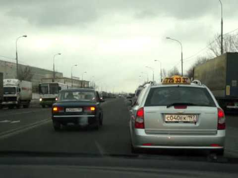 Schumacher driving the taxi like it's Formula 1 in Moscow , Russia