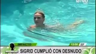 ¡Completamente desnuda! Imperdible piscinazo de Sigrid Alegría