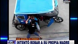 DROGADICTO INTENTÓ ROBAR A SU PROPIA MADRE (ATV+ Noticias 18.01.2017)