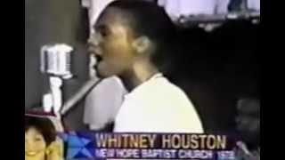Whitney Houston sings at New Hope Baptist Church in Newark, NJ