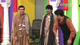 Zafri Khan and Sajan Abbas New Pakistani Stage Drama Full Comedy Clip width=