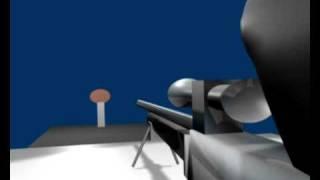 teste blender - tiro de sniper com som
