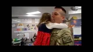 Emotional Video - Soldier Surprises His Six Children One by One