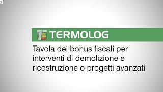 Tavola dei bonus fiscali per interventi di demolizione e ricostruzione o progetti avanzati