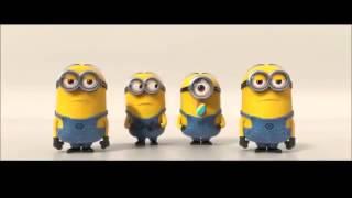 Minions cantando feliz dia del padre!!