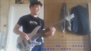 Kasabian -  Club Foot (Bass cover w TABS)