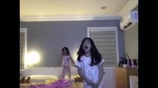 Ranz Kyle Play With Niana Guerrero and Natalia Guerrero Before They Sleep