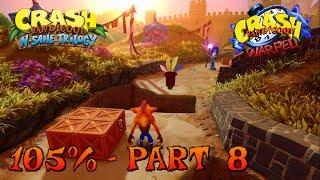 Crash Bandicoot 3 - N. Sane Trilogy - 105% Walkthrough, Part 8: Gee Wiz (Gem)