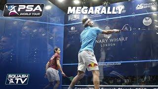 GRUELLING, 100 SHOT RALLY!  - Squash MegaRally - ElShorbagy v Momen