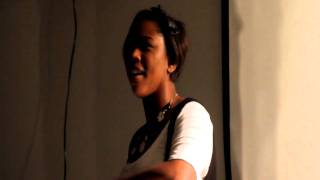 """Noel Scales, poet from HBO""""s Brave New Voices performing at Poetry and Pancakes (17Dec10)"""