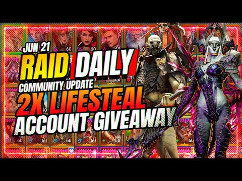 INSANE Account Giveaway! LIFESTEAL GEAR EVENT! | RAID Shadow Legends