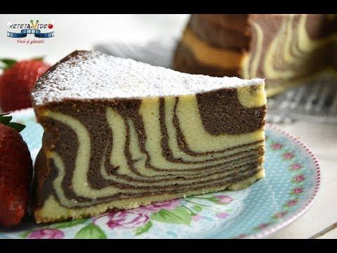 Cheesecake Zebra la Cuptor - Pasca in Doua Culori fara Aluat