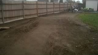bmx track in the backyard with my friend rich