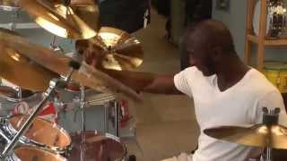Cedric Burnside on drums, Old Jaffa, May 11, Israel