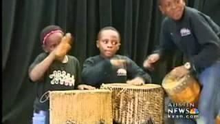 Children bring music from Africa
