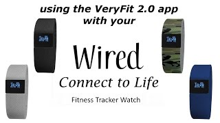Wired Fitness Tracker with the VeryFit 2.0 app