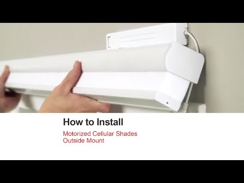 How to Install Motorized Cellular Shades - Outside Mount