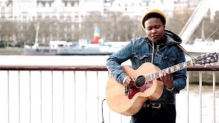 Amazing  street performers Live Acoustic Guitar Music New Song Sherika Sherard busking