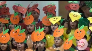 Hino da Fruta 2013/2014 - as 10 turmas da Escola Básica com Jardim de Infância de Mação - Santarém