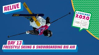 LIVE - Freestyle Skiing & Snowboarding Big Air - Day 13 | Lausanne 2020