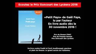 """Ecoutez le Prix Goncourt des Lycéens 2016 - """"Petit Pays"""" de Gaël Faye, lu par l'auteur"""